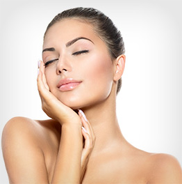 beautiful woman cosmetic treatment