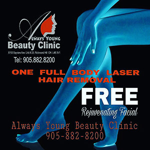 laser hair removal promotion popup