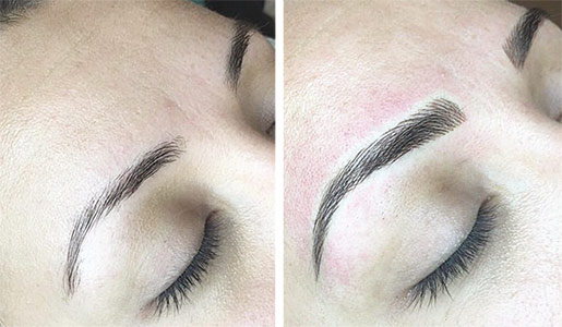 permanent makeup-before and after